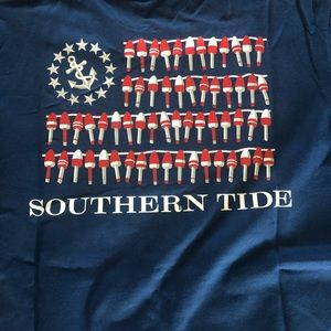 Boys Southern Tide navy shirt size Small 6/7 NWT.
